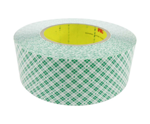 """3M™ 021200-23207 White 9589 Double 9 Mil Coated Film Tape - 2"""" x 36 Yard Roll"""