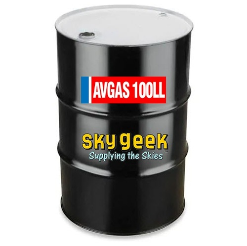 AVGAS 100LL Low-Lead Blue Piston-Engine Aviation Gasoline - 55 Gallon Drum