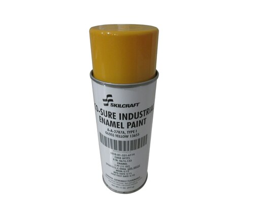Skilcraft® 0674-133 ECO SURE® FS 13655 Gloss Yellow A-A-2787A Type I Spec Industrial Enamel Paint - 11 oz Aerosol Can