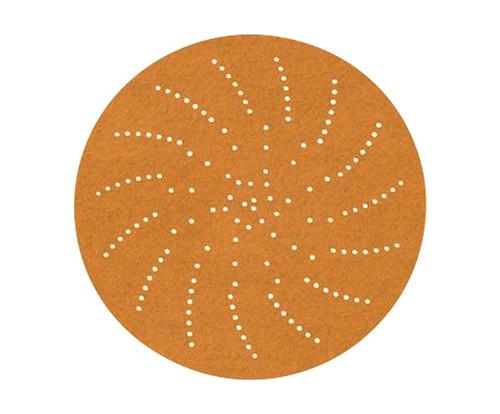 "3M™ 051141-55524 236U Gold 3"" P320 Grit C Weight Sandpaper Sheet - 250 Discs/Pack"