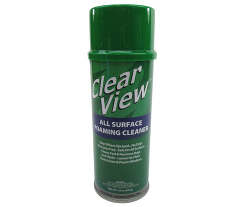 Clear View™ AVL-AGC Clear All Surface Foaming CLeaner - 425 Gram (15 oz) Aerosol Can