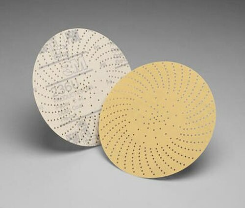 "3M™ 051141-55514 Hookit™ 236U 6"" 400 C Weight Clean Sanding Disc - 50 Discs/Pack"