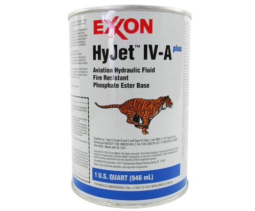 Exxon Mobil HyJet IV-A Plus Violet BMS 3-11P Type V, Grade B & C, Type IV, Class 1 Spec Hydraulic Fluid - Quart Can