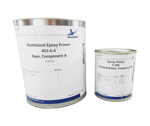 AkzoNobel 463-6-4/X-306 Aluminum BMS 10-142 Type I, Class A, Grade A, Comp C Spec High Temperature Epoxy Coating - Gallon Kit
