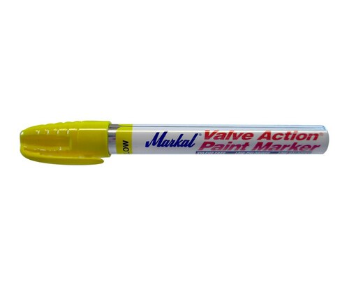 "Markal 96821 Yellow 1/8"" Valve Action Paint Marker"