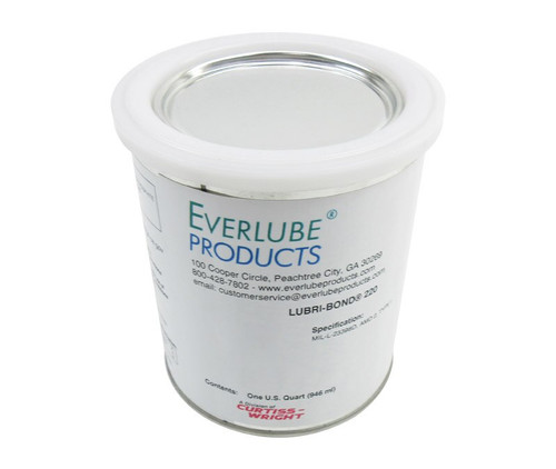 Everlube® Lubri-Bond® 220 Gray/Black MIL-L-23398D Amendment 2, Type I Spec Air Dry MoS2 Solid Film Lubricant - Quart Can