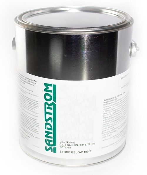 Sandstrom Poxylube® #887 Black PTFE Heat Cure Satin Texture Dry Film Lubricant - Gallon Can & 1/2 Gallon D152 Kit