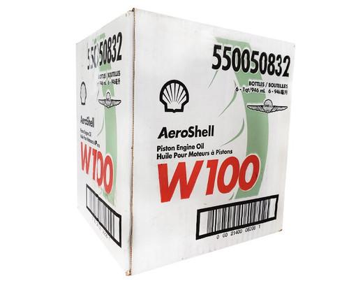 AeroShell™ Oil W100 SAE Grade 50 Ashless Dispersant Aircraft Piston Engine Oil - 6 Quart/Case