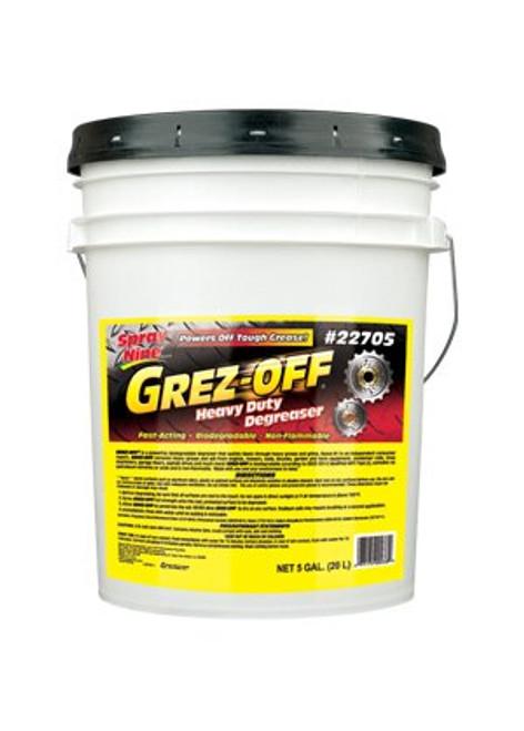 Grez-Off® 22705 Yellow Heavy-Duty Degreaser - 5 Gallon Pail