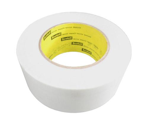 "3M™ 021200-04275 Scotch® 361 White 7.5 Mil Glass Cloth Tape - 2"" x 60 Yard Roll"