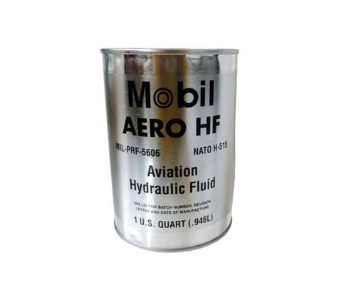 Mobil™ Aero™ HF Red MIL-PRF-5606H Amendment 3 Spec Aviation Hydraulic Fluid - Quart (946 mL) Can
