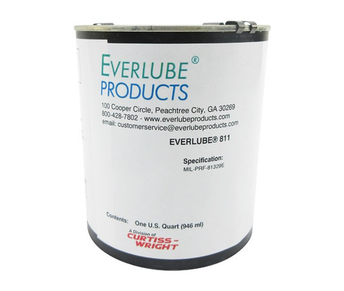 Everlube® 811 Matte Gray MIL-PRF-81329D Amend. 1 Spec Low VOC Thermally Cured MoS2/Graphite Based Solid Film Lubricant - Quart Can