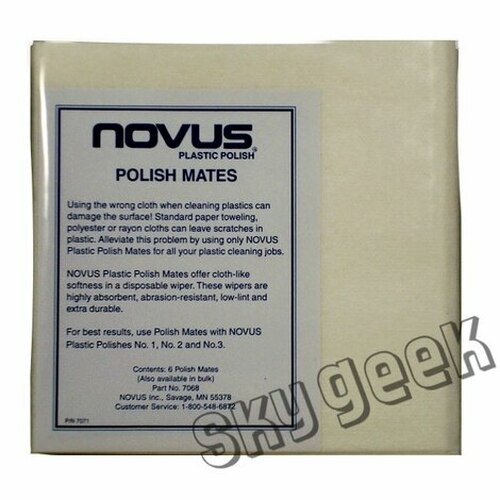 NOVUS 7069 Polish Mate Polishing Cloths - 6 Cloth/Pack