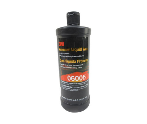 3M™ 051131-06005 Green Premium Liquid Wax - 946 mL (32 oz) Squeeze Bottle