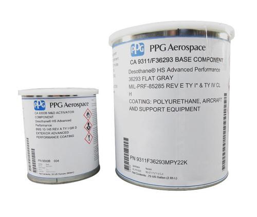 PPG Aerospace® DeSoto® CA9311/FS#36293 Gray MIL-PRF-85285 Type I & IV Spec Fluoropolyurethane Topcoat - 3:1 Gallon Kit