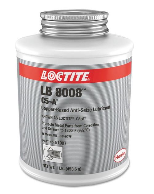 Henkel 51007 LOCTITE® LB 8008™ C5-A® Copper Based Anti-Seize Lubricant - 453.6 Gram (1 lb) Brush-Top Can