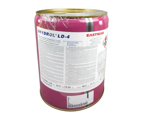 Eastman™ Skydrol® LD-4 Purple BMS3-11P, Type V, Grade B & C Spec Fire Resistant Hydraulic Fluid - 18.42 Kg (5 Gallon) Steel Pail