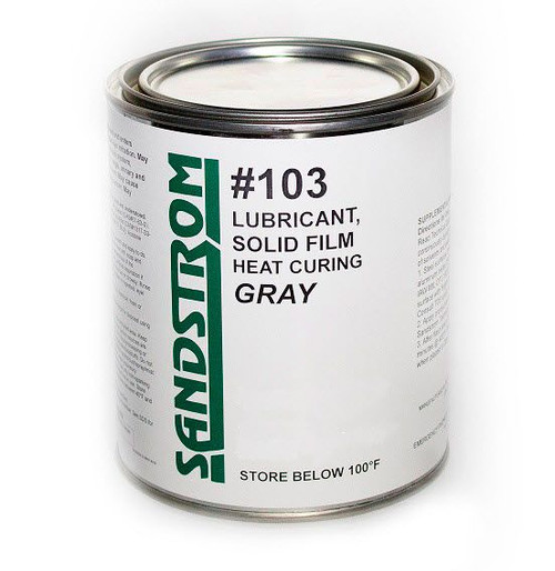 Sandstrom #103 Concentrated Flat Dark Gray Heat Cure Solid Film Lubricant Reduced for Spray Form - Gallon Can
