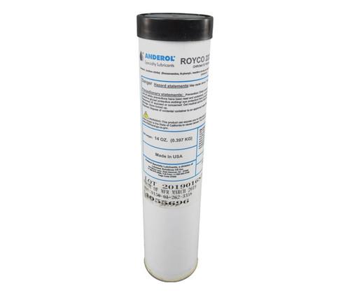 ROYCO® 22CF Brown MIL-PRF-81322G Spec General Purpose Synthetic Grease - 14 oz Cartridge