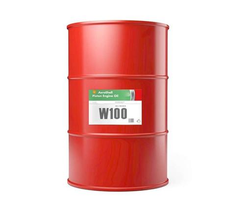 AeroShell™ Oil W100 SAE Grade 50 Ashless Dispersant Aircraft Piston Engine Oil - 55 Gallon (206.9 Kg) Steel Drum