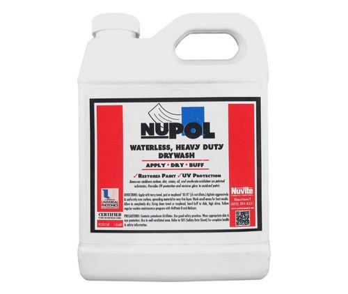 Nuvite PC22051 NuPol Heavy-Duty Drywash/Polish Cleaner with U/V Protectant - Quart Jug