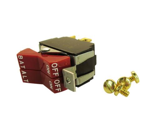 "Piper 587-829 Red ""Battery/Alternator"" Master Rocker Switch"