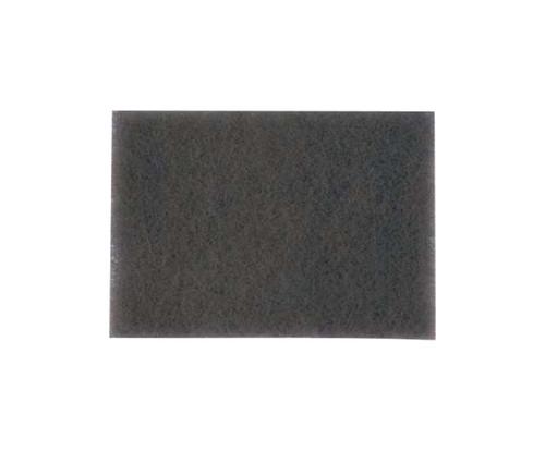 """3M™ 048011-14049 Scotch-Brite™ 7448B Gray 6"""" X 9"""" Ultra Fine Hand Pad - 60 Bulk Pad/Case"""