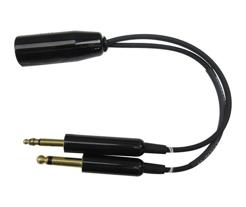 David Clark 18253G-05 Black Adapter Cable Converts Helicopter Headset U-174/U or U-93A/U to Fixed Wing Headset M642/5-1(PJ068) & M642/4-1(PJ055)