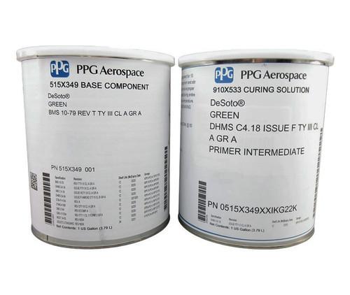 PPG Aerospace® DeSoto® 515X349 Green BMS 10-79R Type III Class A Grade A Spec Exterior Epoxy Primer - Gallon Kit