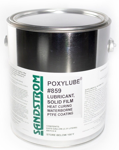 Sandstrom Poxylube® #859 Jet Black Waterborne PTFE Heat Cure Dry Film Lubricant - Gallon Can
