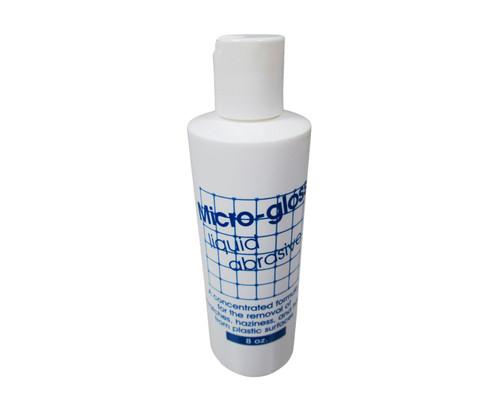 Micro-Gloss® 3MG8 White Liquid Abrasive Type 1 Plastic Window Cleaner & Polish - 8 oz Bottle