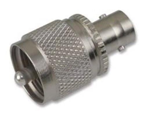 Amphenol RF 31-28-RFX Brass/Nickle BNC Female Jack to UHF Male Straight Connector, Plug, Electrical