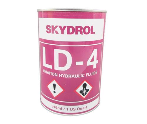 Eastman™ Skydrol® LD-4 Purple BMS3-11P, Type V, Grade B & C Spec Fire Resistant Hydraulic Fluid - 946 mL (Quart) Can