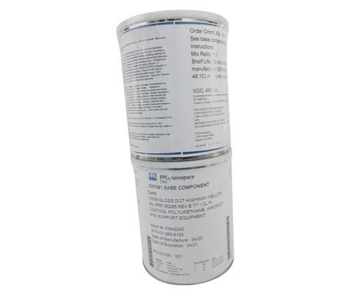 PPG Aerospace® Deft® 03-Y-091 FS#13538 Yellow MIL-PRF-85285 Type I, Class H Spec Polyurethane Military Topcoat - 2 Gallon Kit
