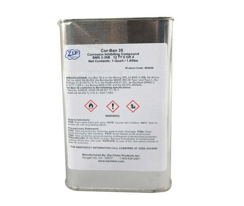 Zip Chem 009408 Cor-Ban 35 Corrosion Preventive Compound - Quart Can