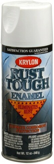 KRYLON® K00909 RUST TOUGH® Flat White Rust Preventive Enamel Paint - 340 Gram (12 oz) Aerosol Can