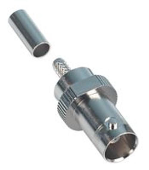 TE Connectivity 2-329452-2 Brass/Silver RG-142, RG-142A, RG-142B BNC Male Straight Connector, Plug, Electrical