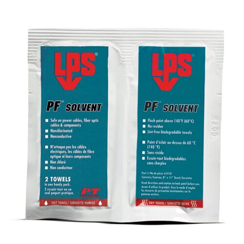 LPS 3® 61410 PF Solvent Clear/White Penetrating Degreaser - 1 Wipe Wet/Dry Pack