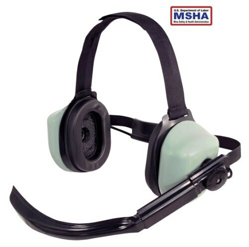 "David Clark 16298G-09 Model H5042 Black 30"" Straight-Cord Acoustic Boom Microphone Dual Ear Behind-the-Head Headset"