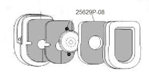 David Clark 25629P-08 Filter, Dome