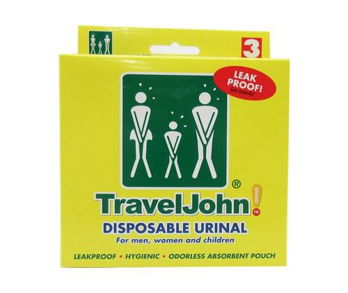 TravelJohn™ 66893 Disposable Urinals - 3 Urinal/Pack