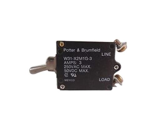 Potter & Brumfield W31-X2M1G-3 Toggle Circuit Breaker - 3 AMP