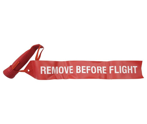 """Sesame Technologies KPC3-580-3 Red Single Layer Kevlar® Flame-Retardant Pitot Cover with 2"""" x 12"""" Streamer Flag"""