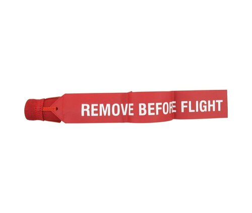 """Sesame Technologies KPC3-910-55 Red Single Layer Kevlar® Flame-Retardant Boeing 737 Tail Probe Cover with 2"""" x 12"""" Streamer Flag"""