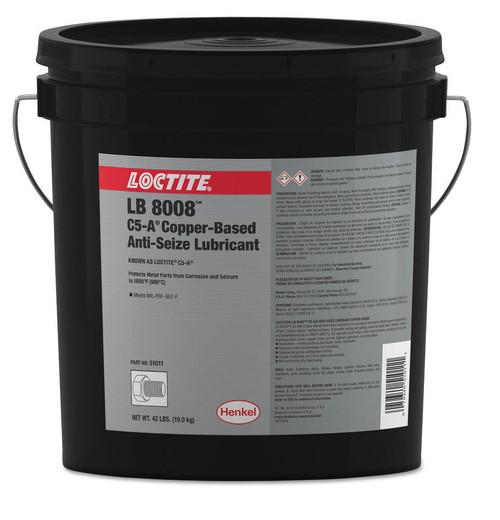 Henkel 51001 LOCTITE® LB 8008™ C5-A® Copper Based Anti-Seize Lubricant - 19.0 Kg (42 lb) Pail