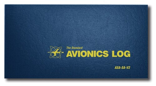 Aviation Supplies & Academics ASA-SA-V2 Blue The Standard™ Avionics Logbook