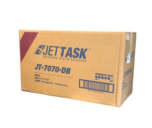 """JETTASK™ JT-7070-DB White 9.1"""" x 16.8"""" Medium-Duty Wiping Cloth - 10 Ea - 100 Wipe/Pop-Up Boxes"""