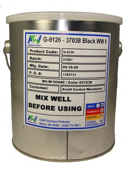 APV® Engineered Coatings G-9126-01 Walkway™ FS 37038 Black A-A-59166A Type 2/MIL-W-5044C Spec Non-Slip Walkway Compound - Quart Can