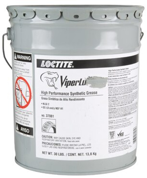 Henkel 37061 LOCTITE® LB 8304™ VIPERLUBE® High-Performance Synthetic Grease - 13.6 Kg (30 lb) Steel Pail