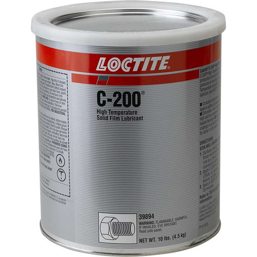 Henkel 39894 LOCTITE® LB C-200™ Gray High-Temperature Solid Film Lubricant - 4.5 Kg (10 lbs) Can